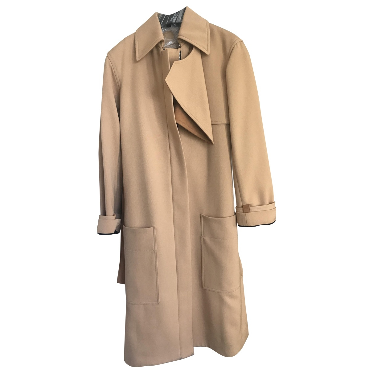 Celine \N Camel Wool Trench coat for Women 36 FR