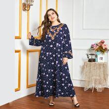 Vestido tunico con estampado floral