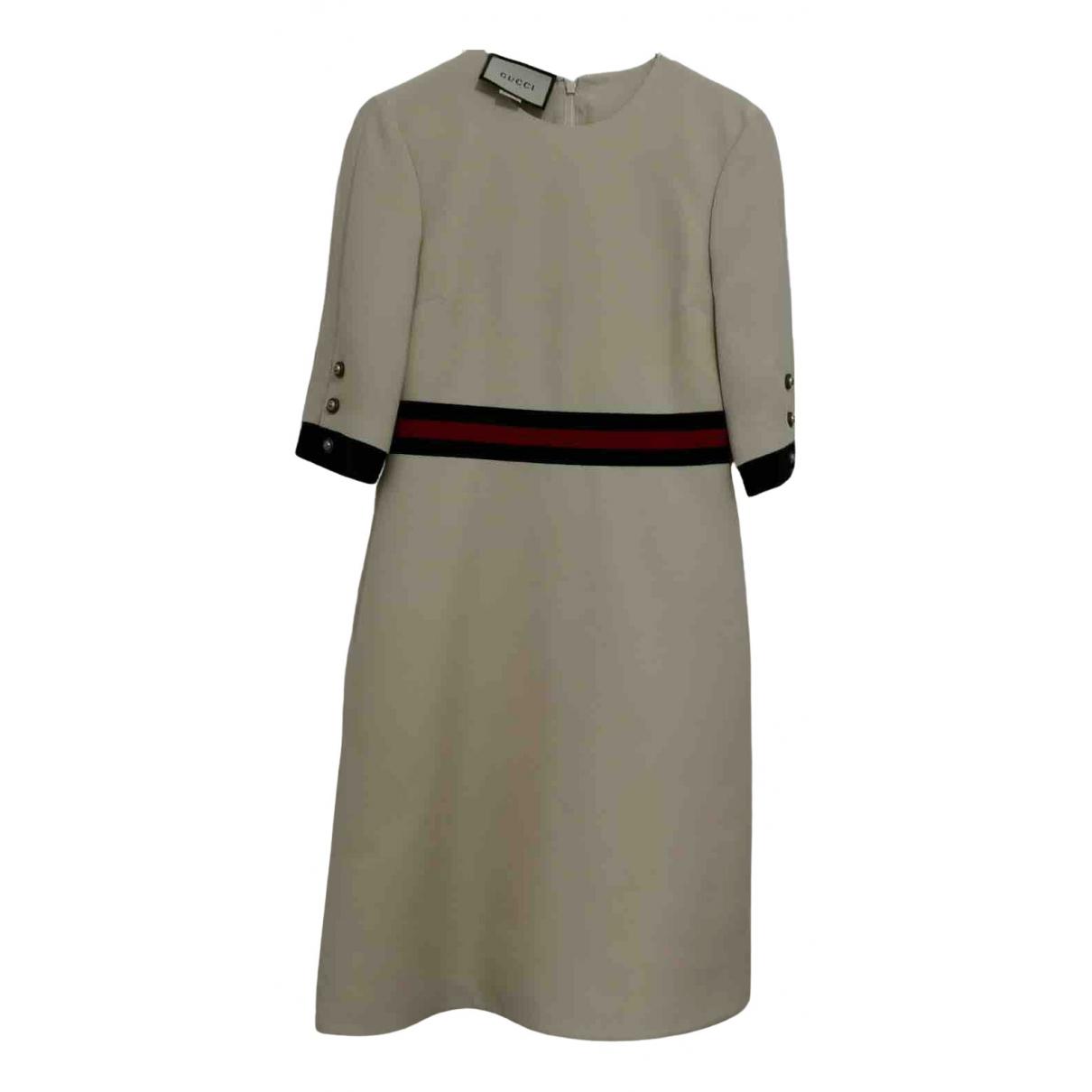 Gucci - Robe   pour femme en laine - blanc