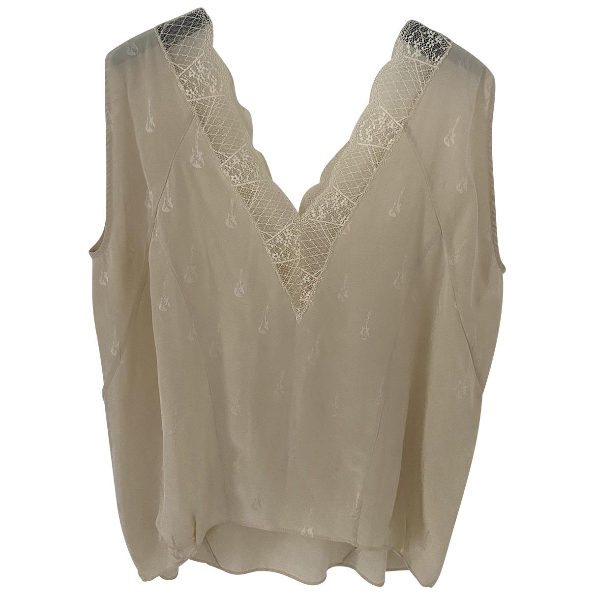 Zadig & Voltaire \N Beige Silk  top for Women M International