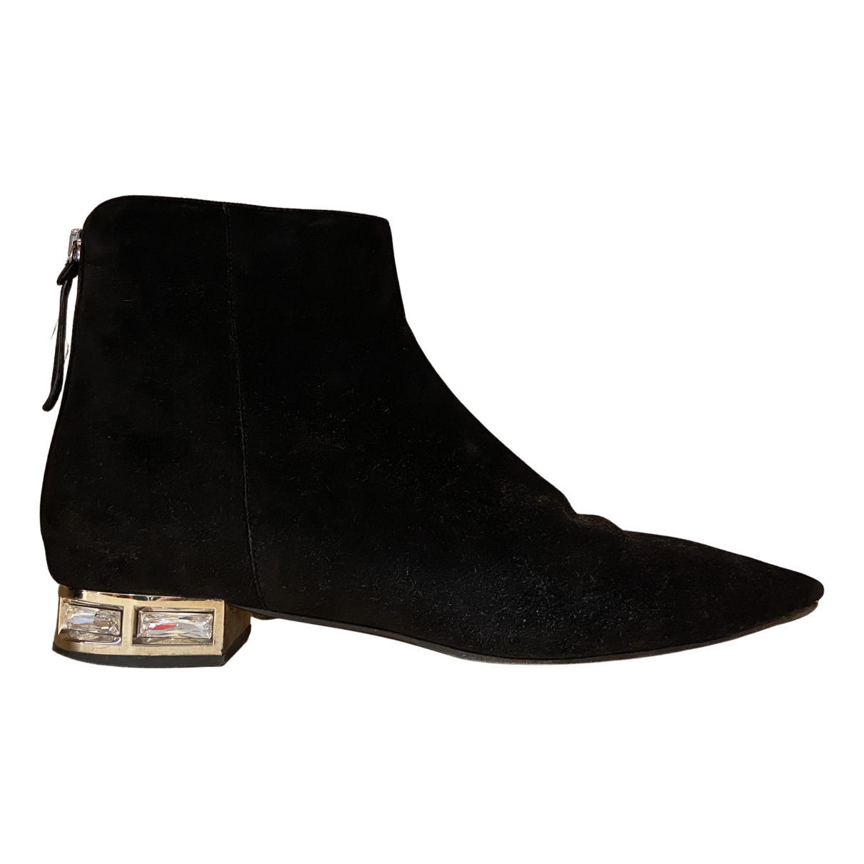 Miu Miu N Black Suede Ankle boots for Women 40 IT