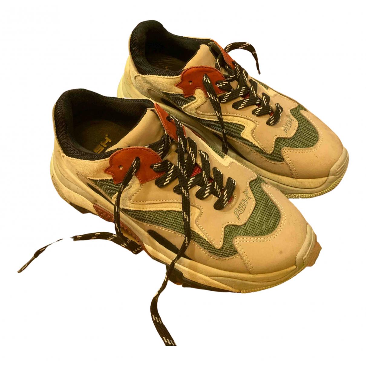 Ash \N Sneakers in  Khaki Leder