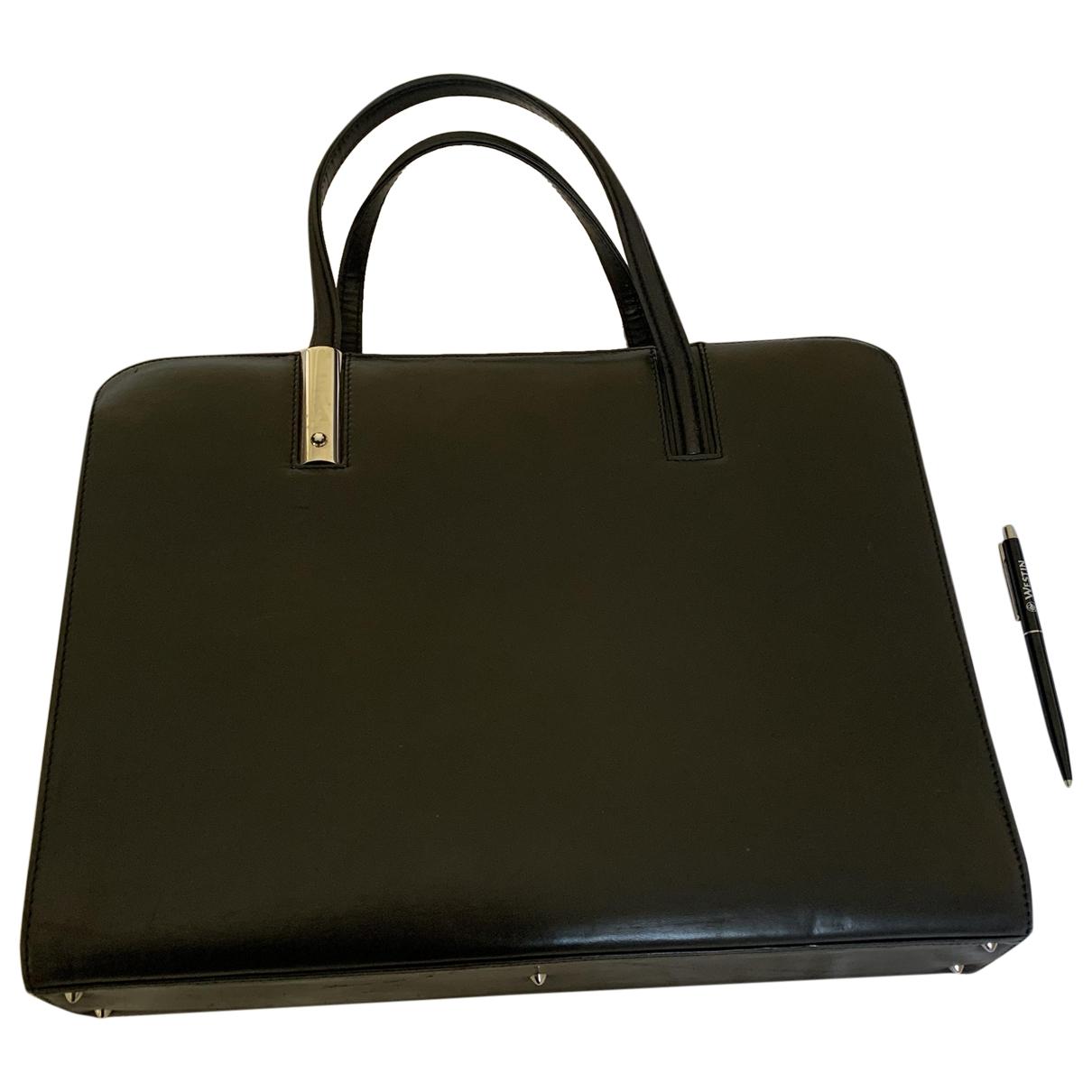 Montblanc \N Handtasche in  Schwarz Leder