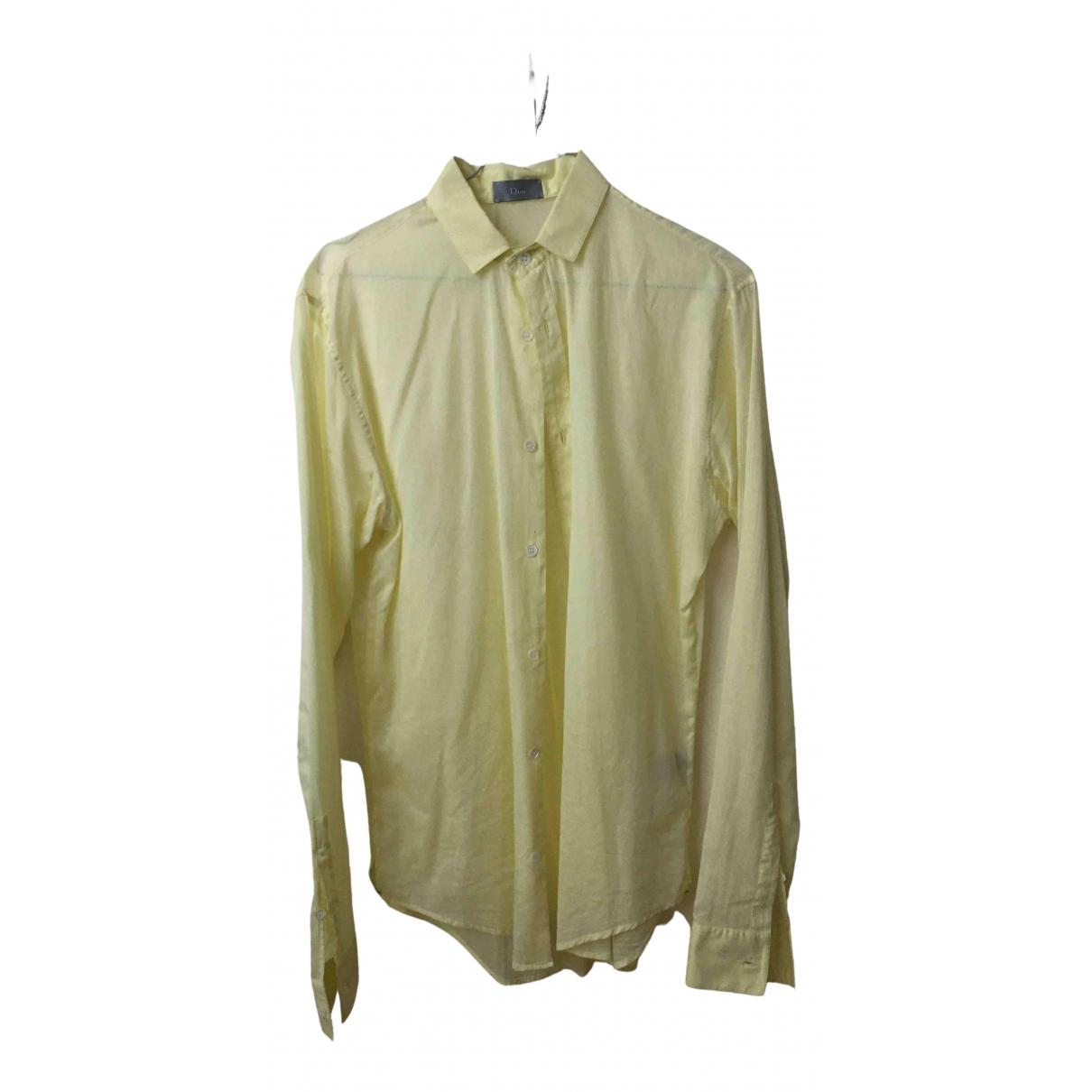 Dior Homme N Yellow Cotton Shirts for Men 38 EU (tour de cou / collar)