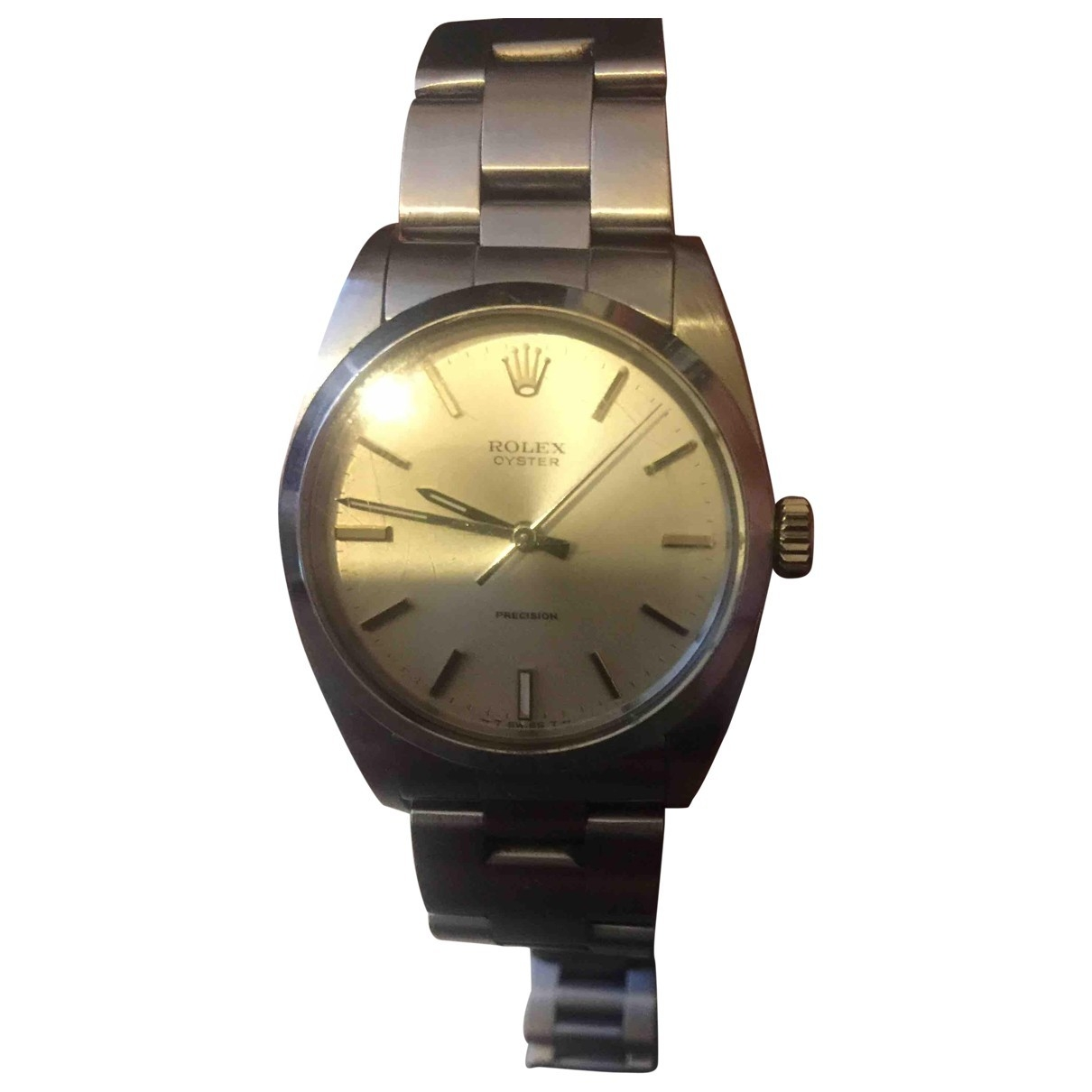 Rolex Oyster Perpetual 34mm Pink Steel watch for Men \N