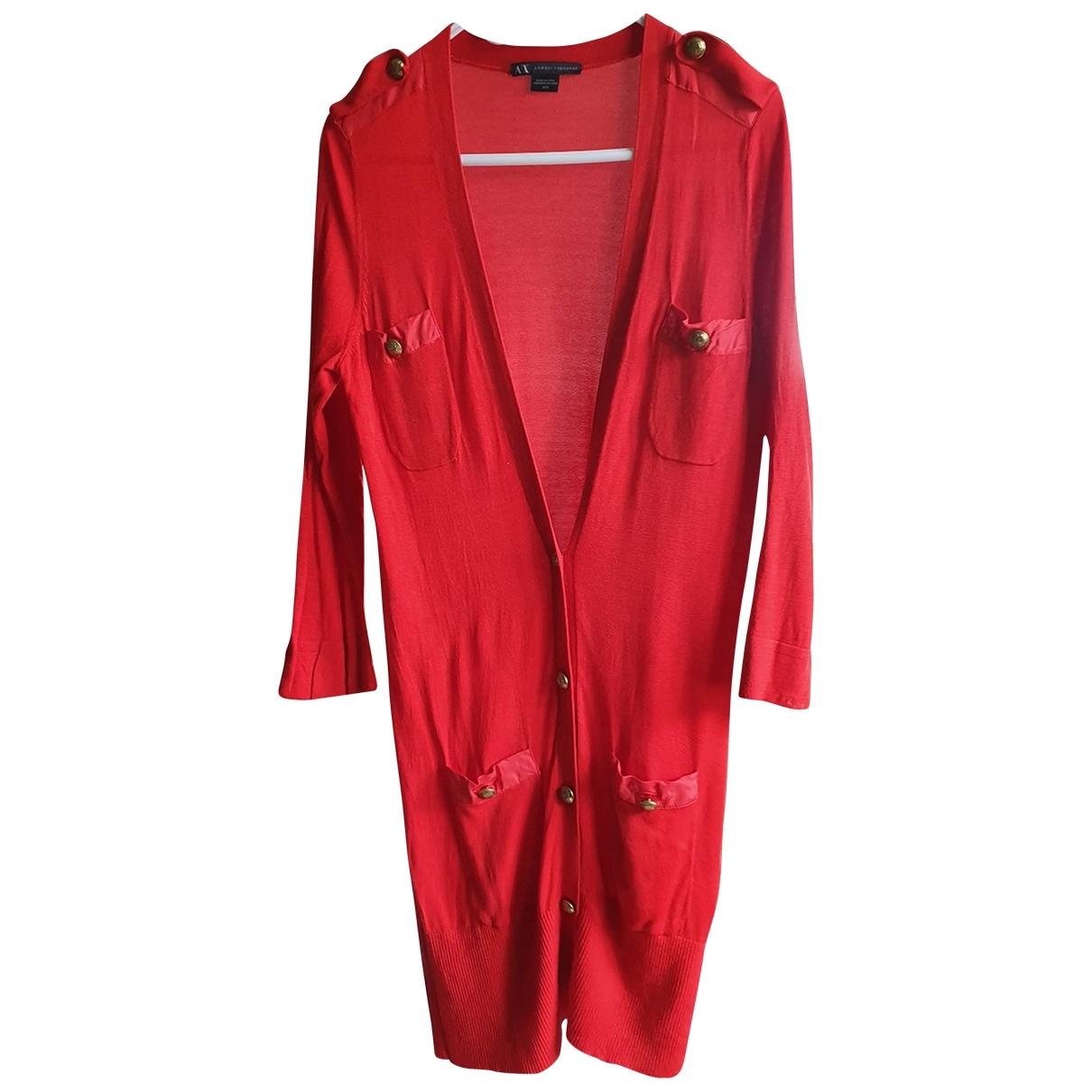 Emporio Armani \N Pullover in  Rot Seide
