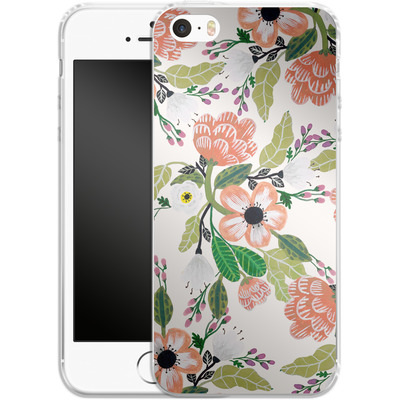 Apple iPhone 5 Silikon Handyhuelle - Botanical Dream von Iisa Monttinen