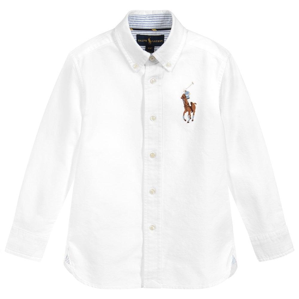 Ralph Lauren Kids Oxford Pony Shirt Size: L (14-16 YEARS), Colour: WHITE