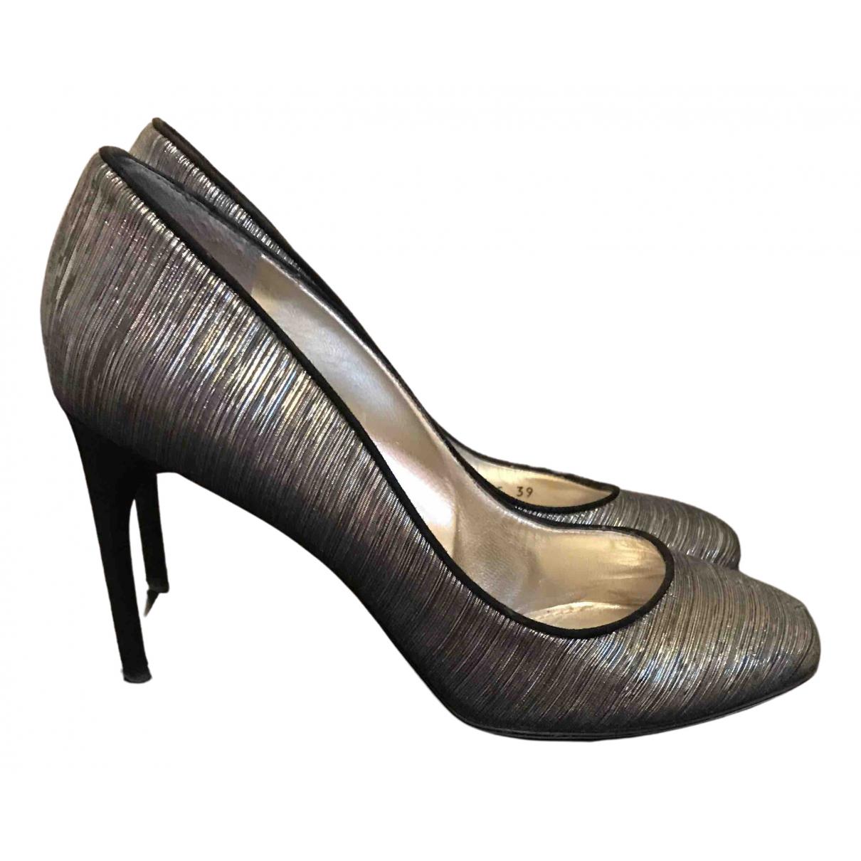 D&g \N Silver Leather Heels for Women 39 EU