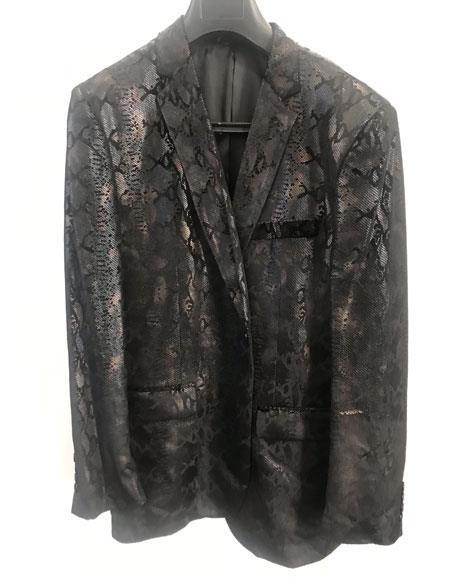 Snakeskin ~ Python look ~ Alligator ~ Gator look Sport Jacket ~ Coat