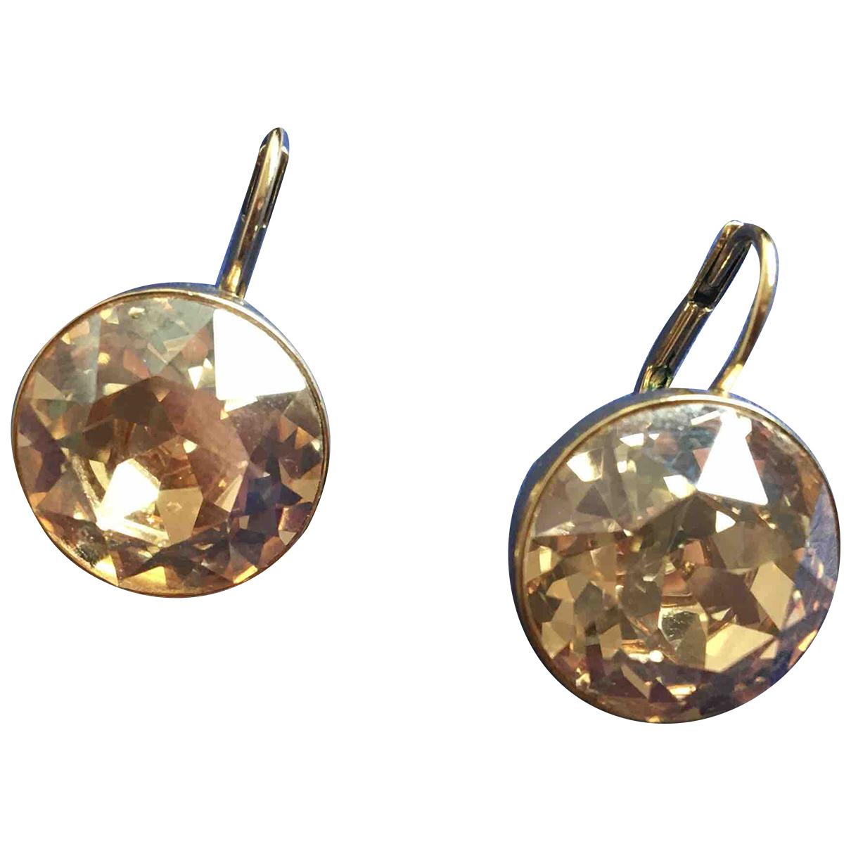 Swarovski - Boucles doreilles   pour femme en cristal - dore