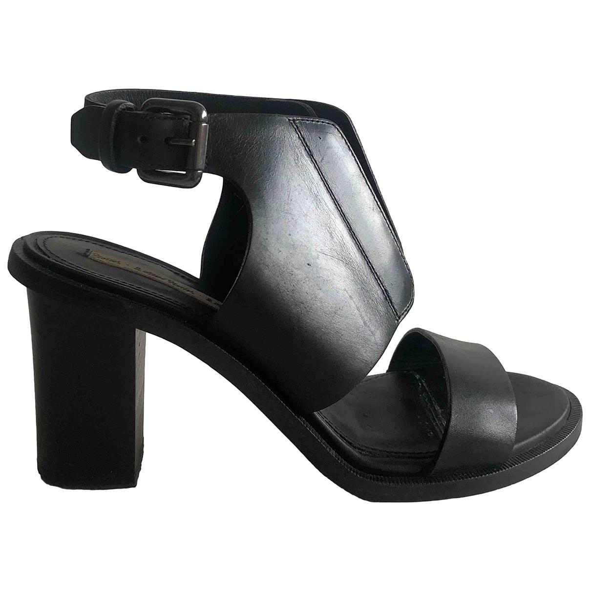 & Other Stories - Sandales   pour femme en cuir - noir