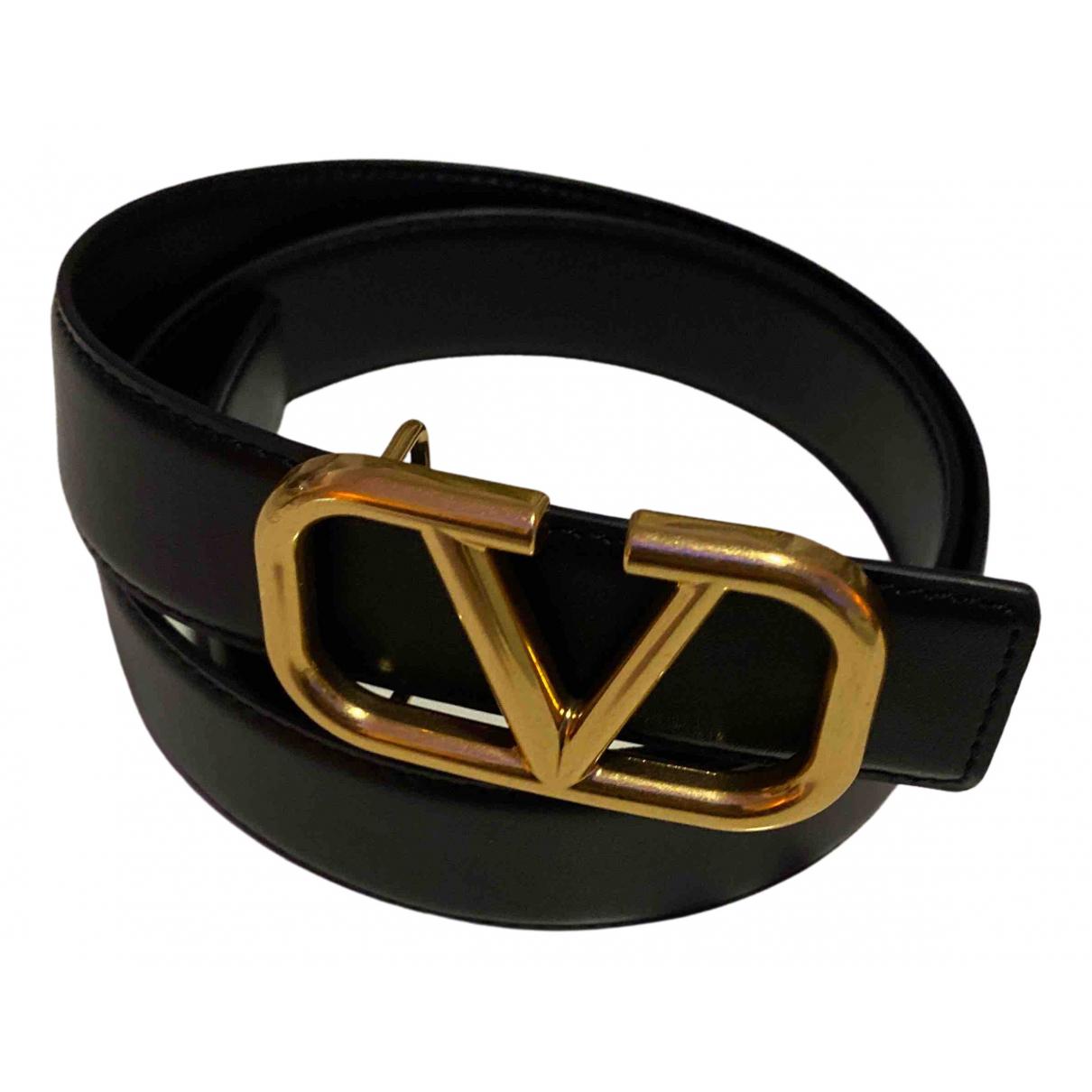 Valentino Garavani - Ceinture   pour femme en cuir - noir