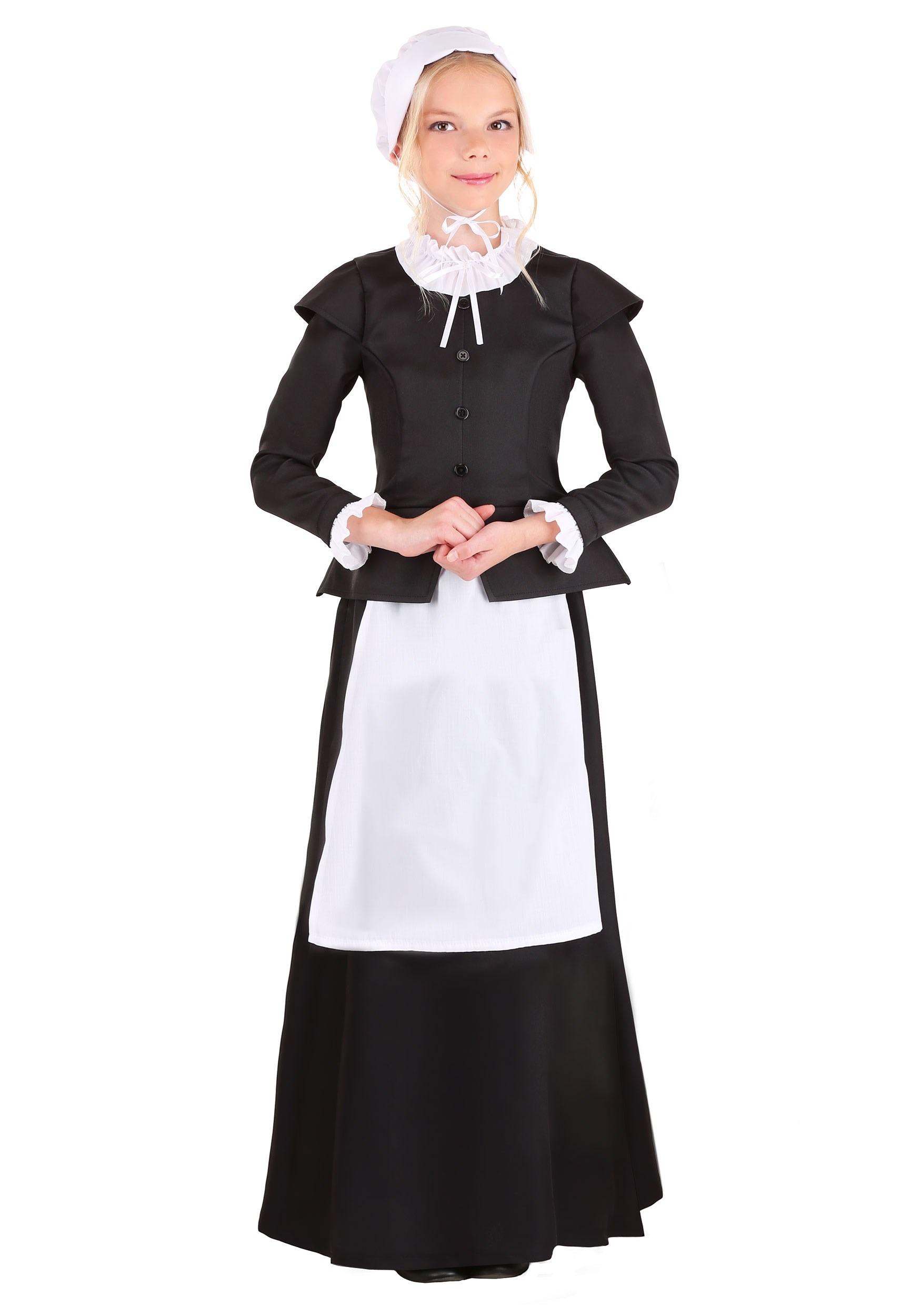Thankful Pilgrim Girl's Costume