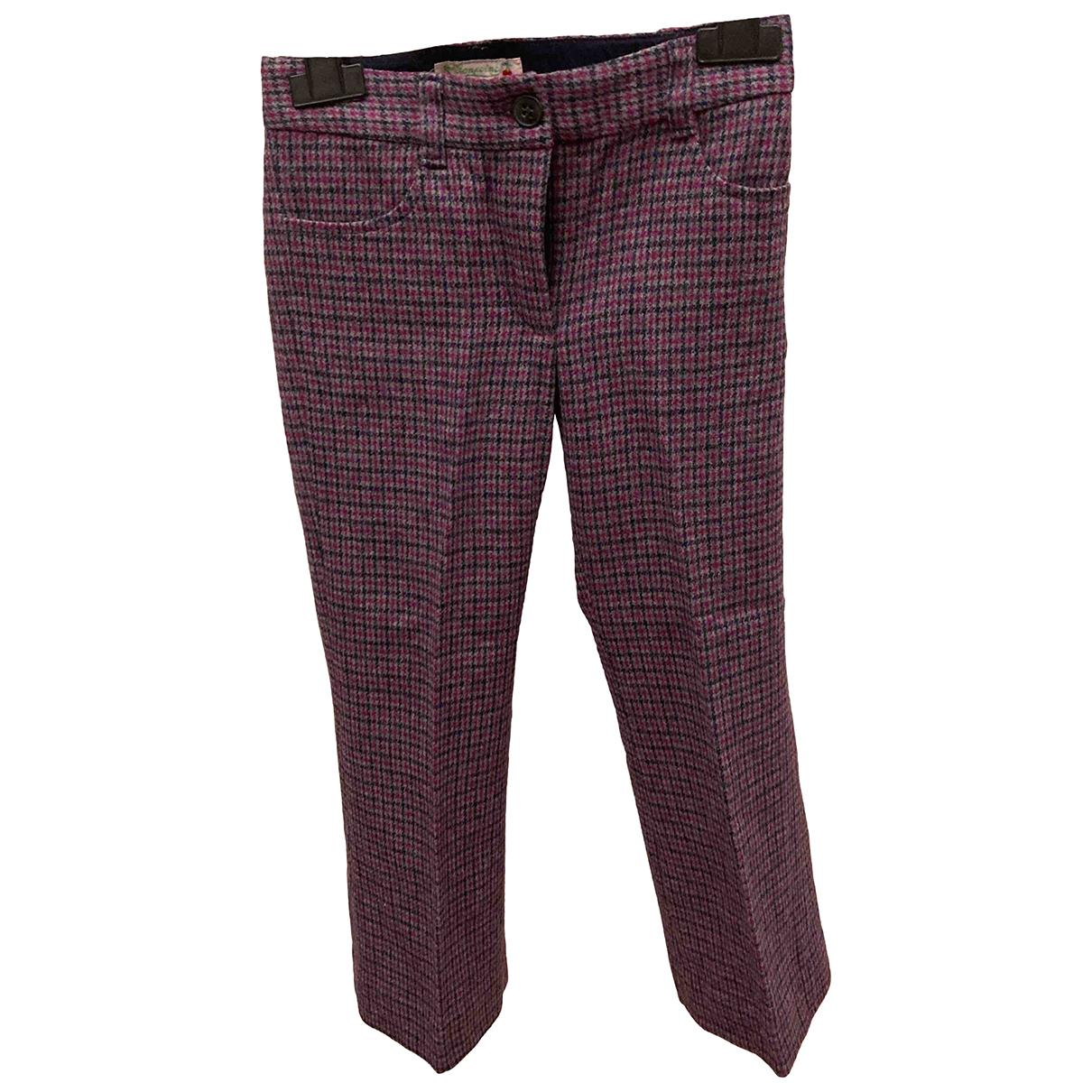 Bonpoint - Pantalon   pour enfant en laine - bordeaux