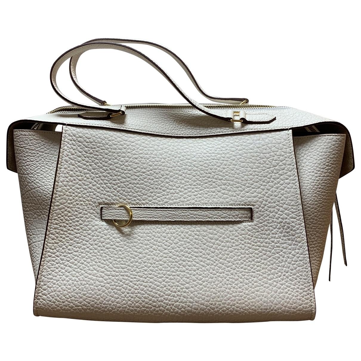 Celine Ring Handtasche in  Ecru Leder