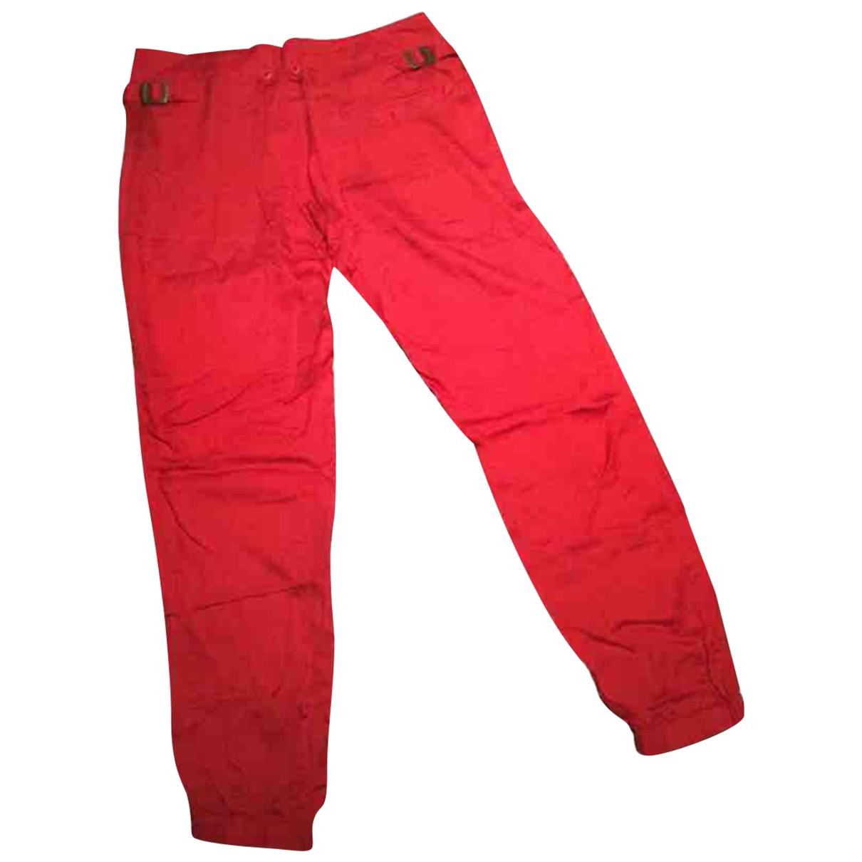 Ralph Lauren \N Red Silk Trousers for Women XXS International