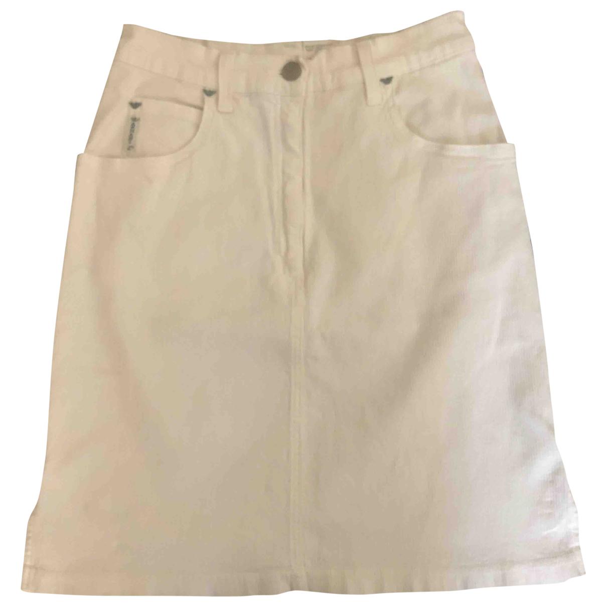 Armani Jean - Jupe   pour femme en coton - blanc