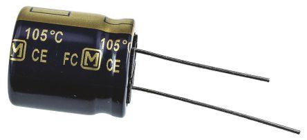 Panasonic 680μF Electrolytic Capacitor 63V dc, Through Hole - EEUFC1J681S (5)