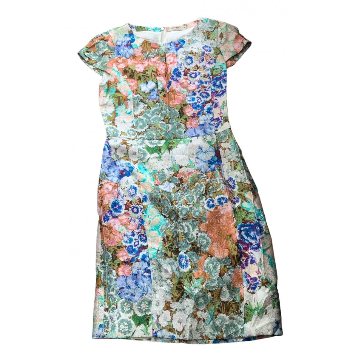 Etro \N Multicolour Cotton - elasthane dress for Women 46 IT