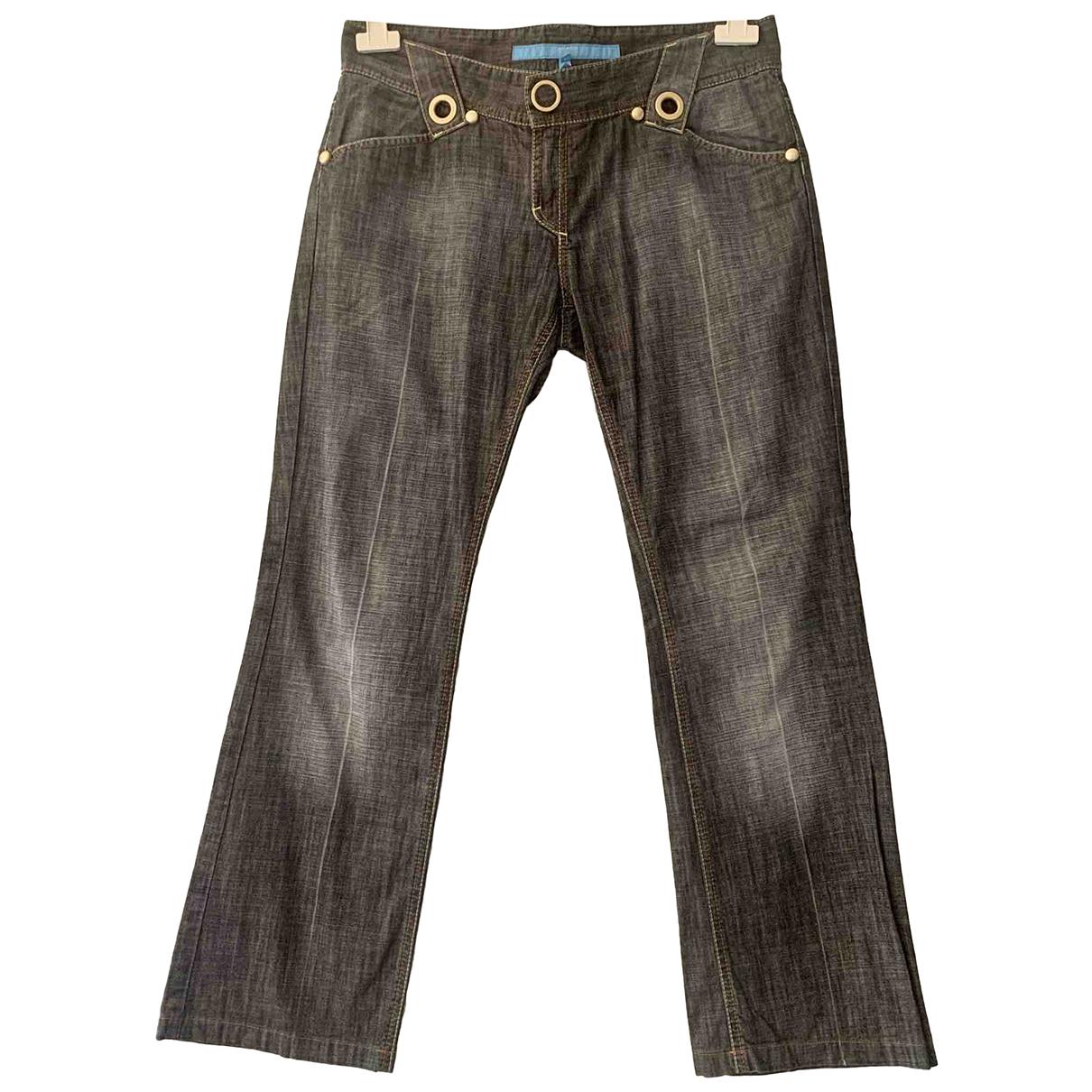 Escada N Black Cotton Trousers for Women 40 FR