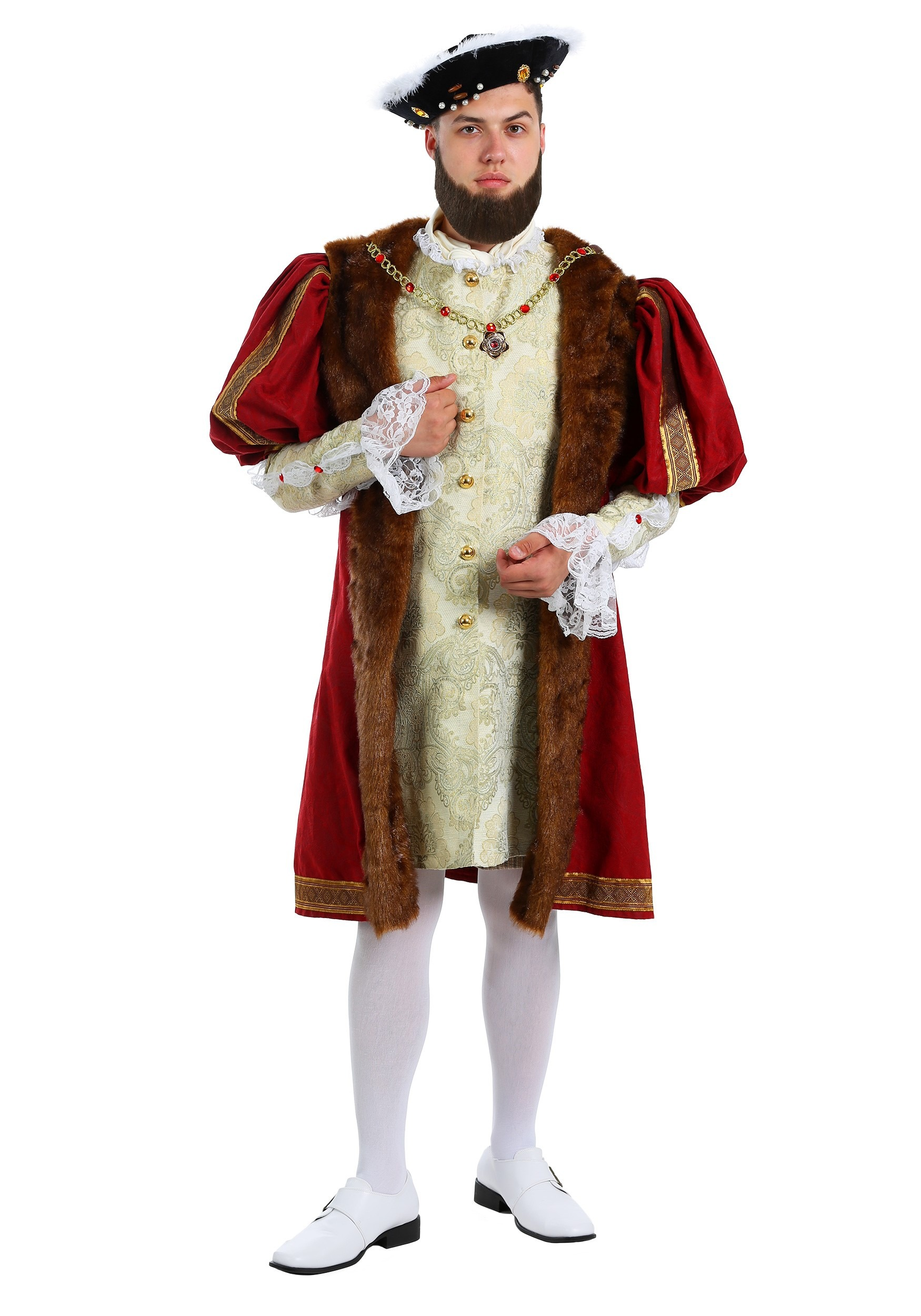 Men's Plus Size King Henry Costume | Historical Costumes