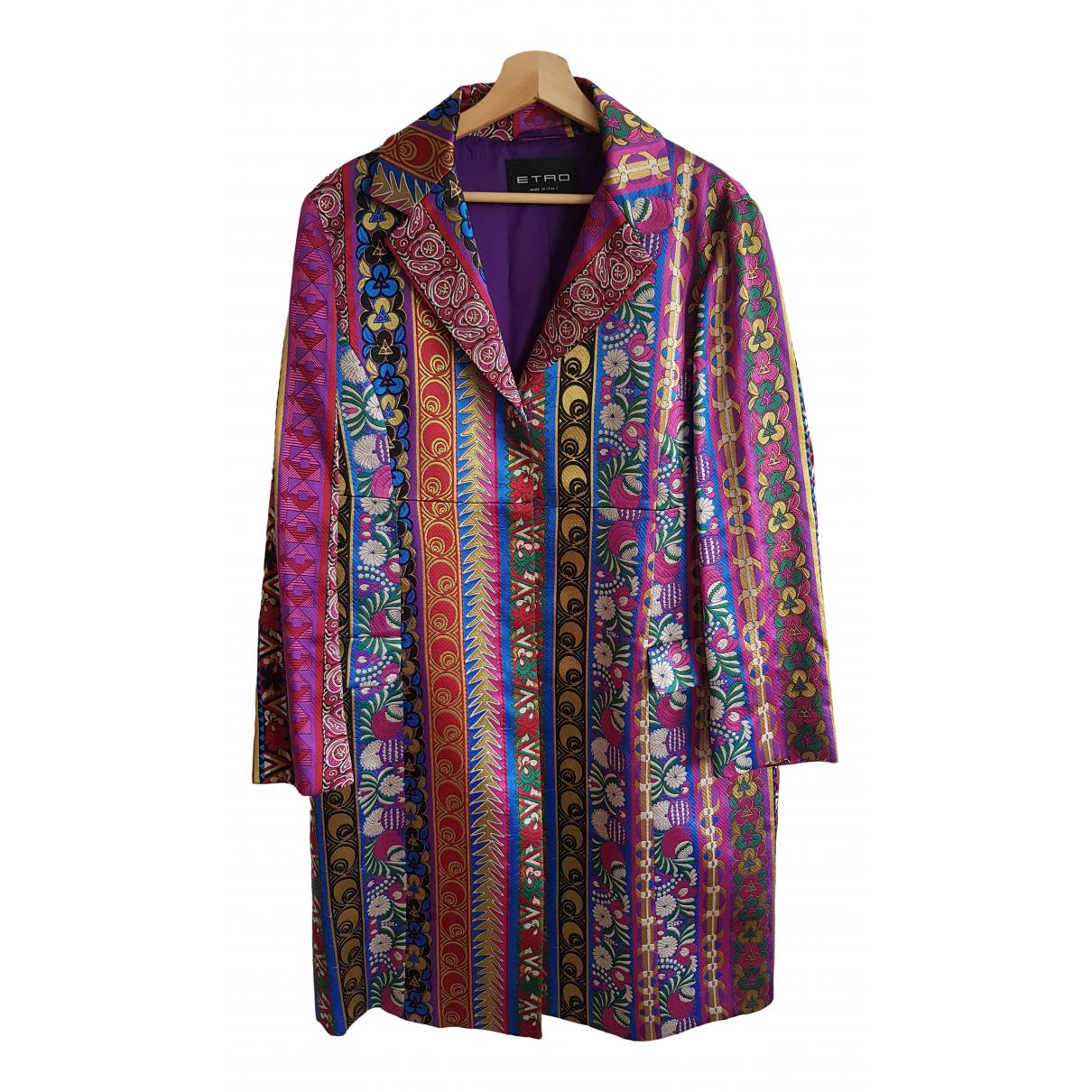 Etro - Manteau   pour femme en soie - violet