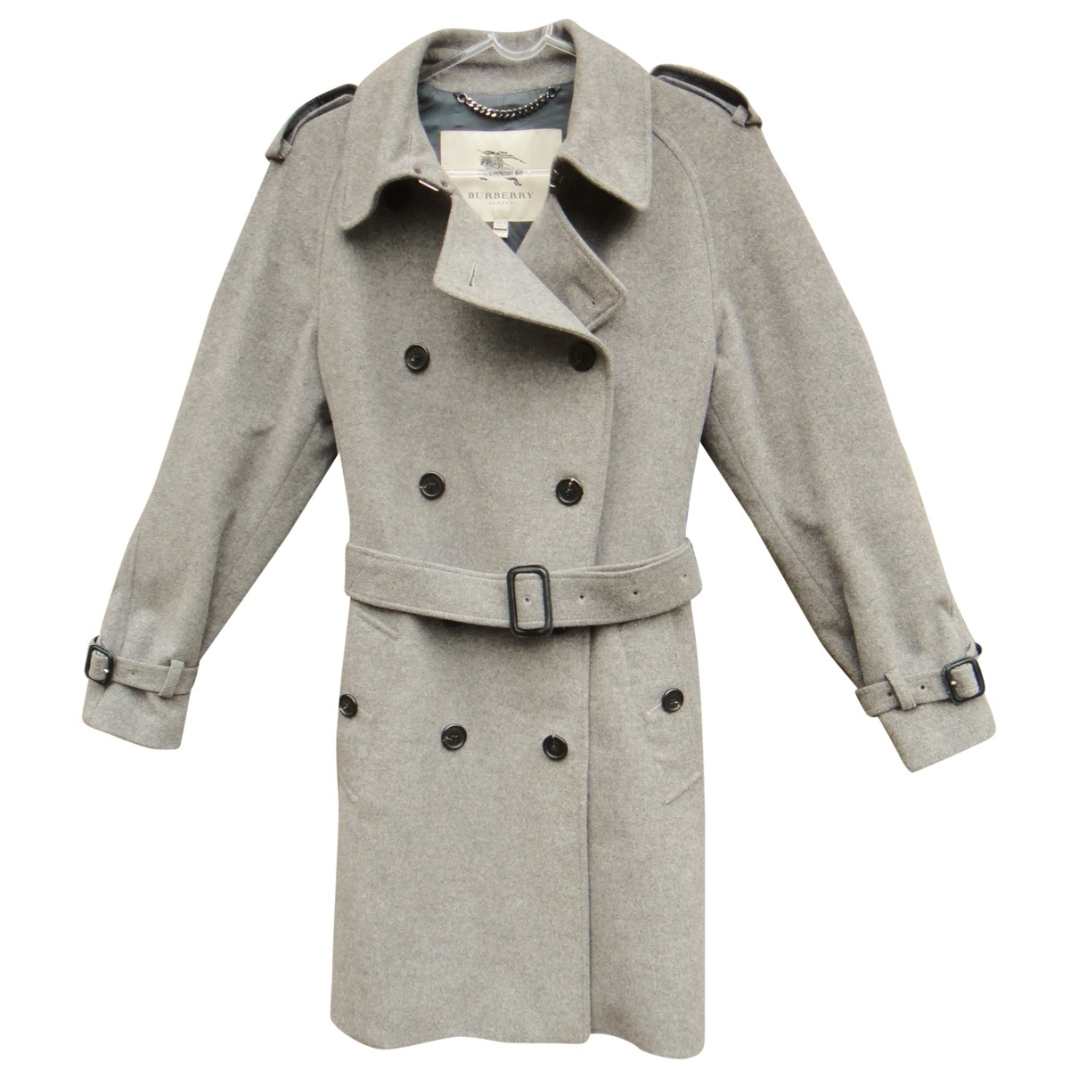 Burberry \N Trench in  Grau Wolle