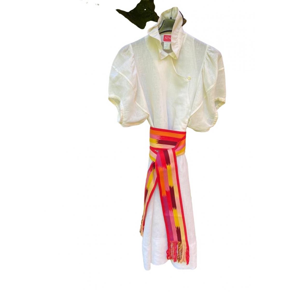 Kenzo \N White Linen dress for Women M International