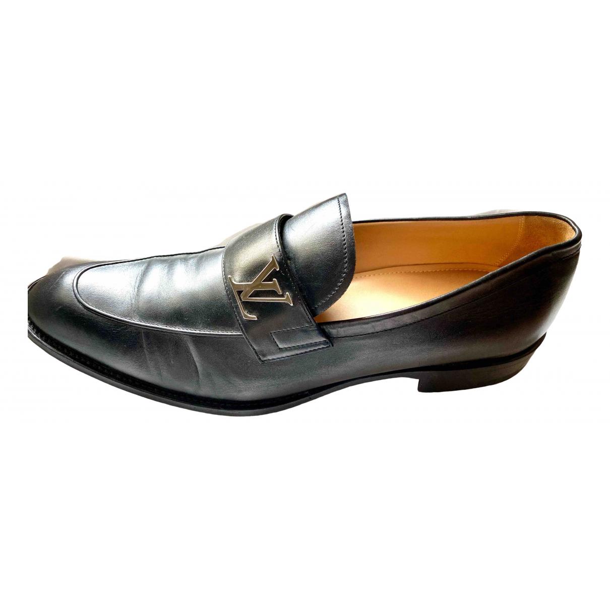 Louis Vuitton \N Black Leather Flats for Men 9 UK