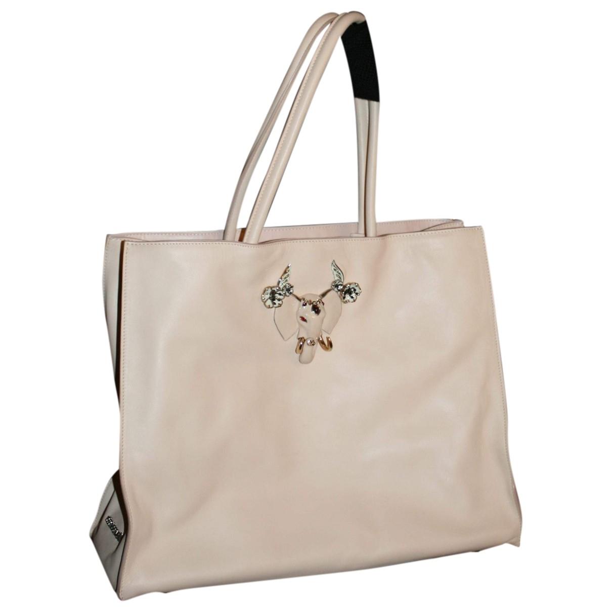Roberto Cavalli \N Pink Leather handbag for Women \N