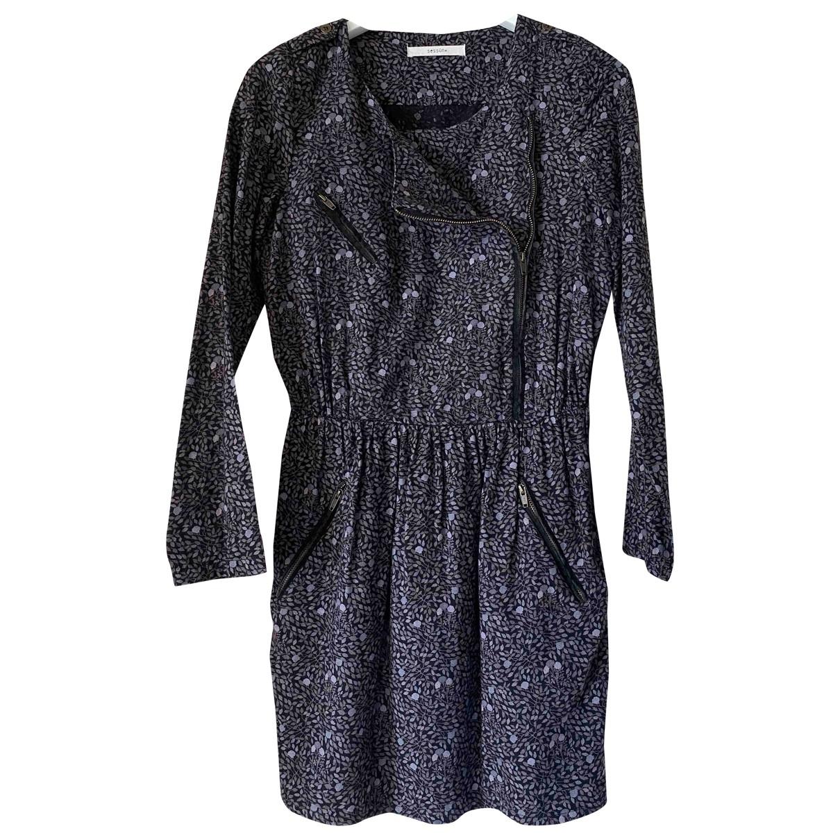 Sessun \N Kleid in  Grau Baumwolle