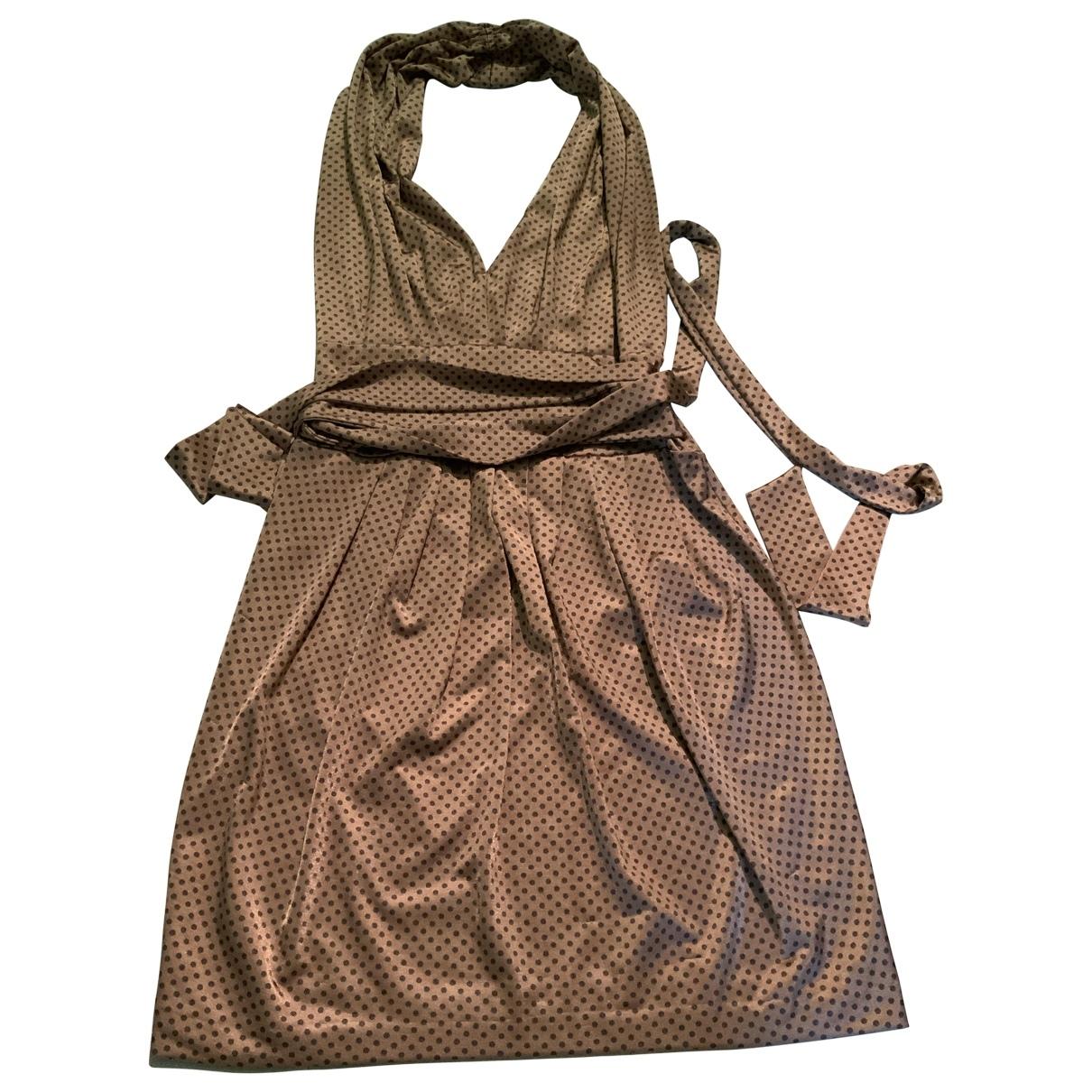 Daniele Alessandrini \N Kleid in  Gold Polyester