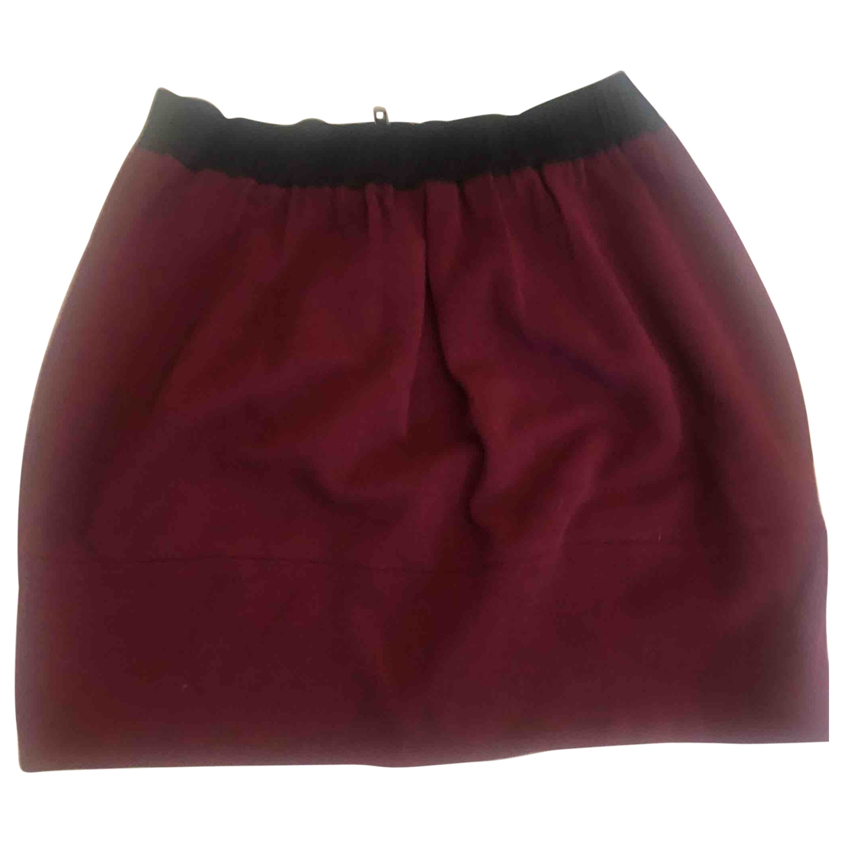 Maje \N Burgundy Wool skirt for Women 1 0-5