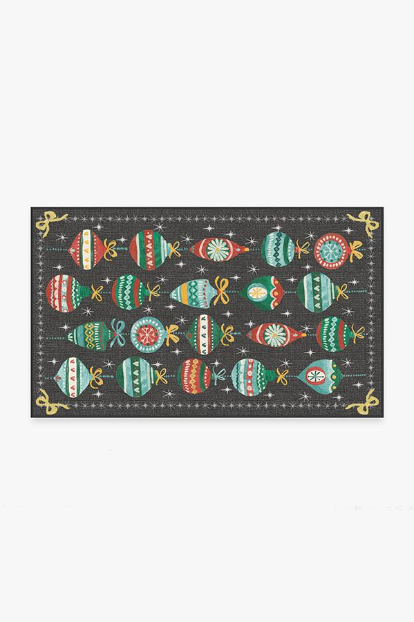 Washable Rug Cover   Festive Garland Multicolor Rug   Stain-Resistant   Ruggable   3'x5'