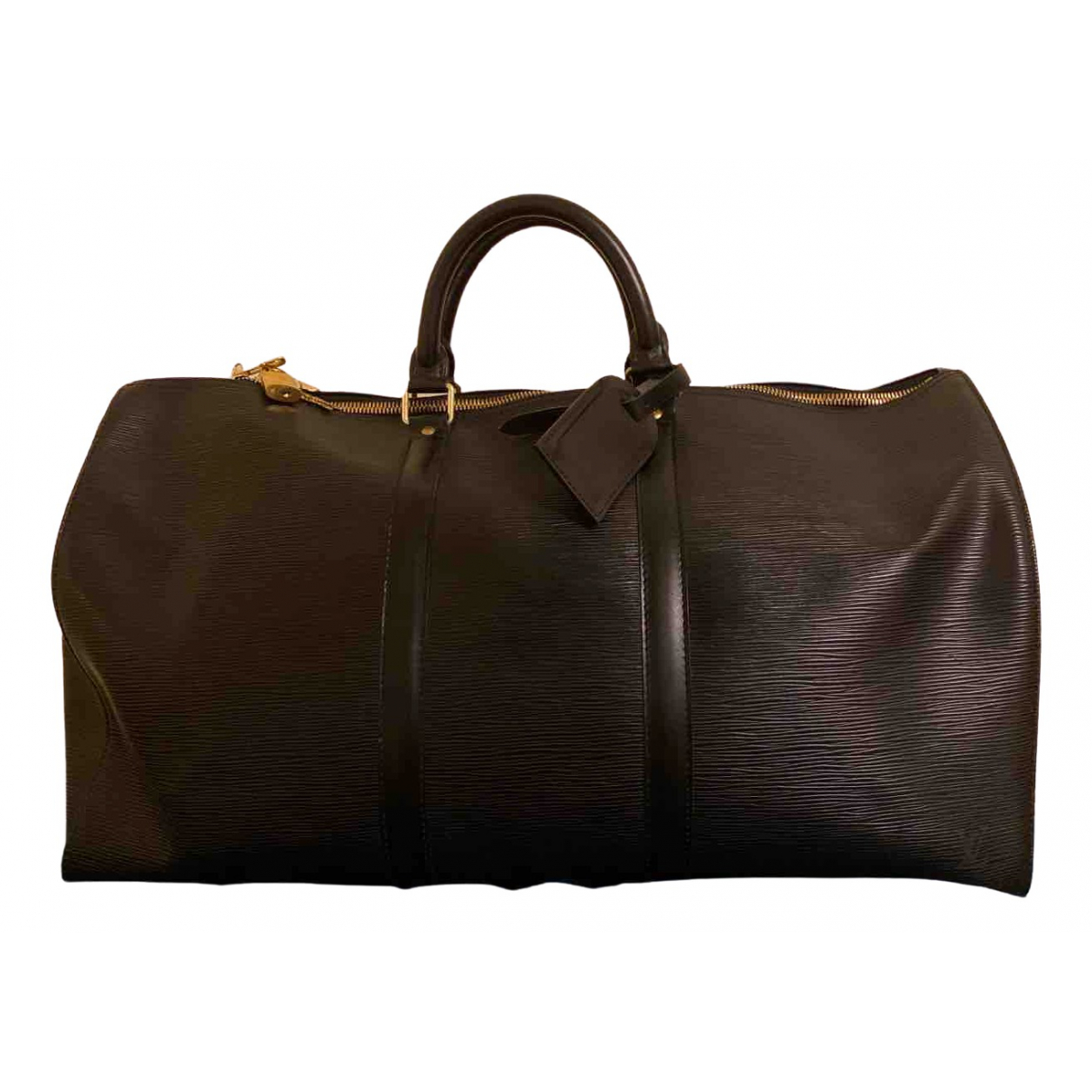 Louis Vuitton Keepall Black Leather Travel bag for Women \N