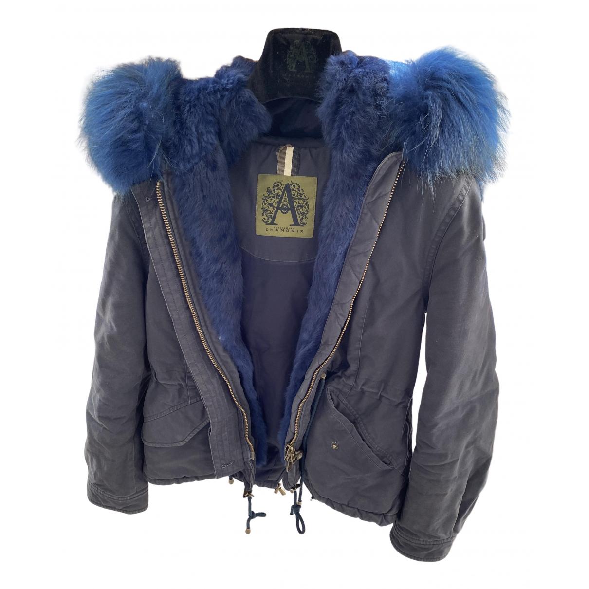 Abrigo en Poliester Azul Alessandra Chamonix