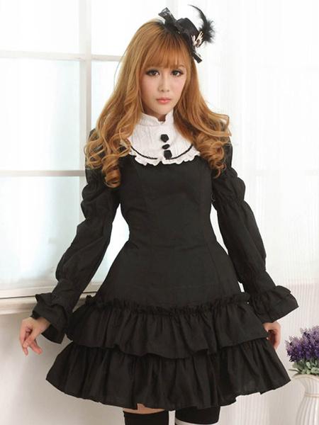 Milanoo Vestido de Lolita de algodon mezclado con estampado