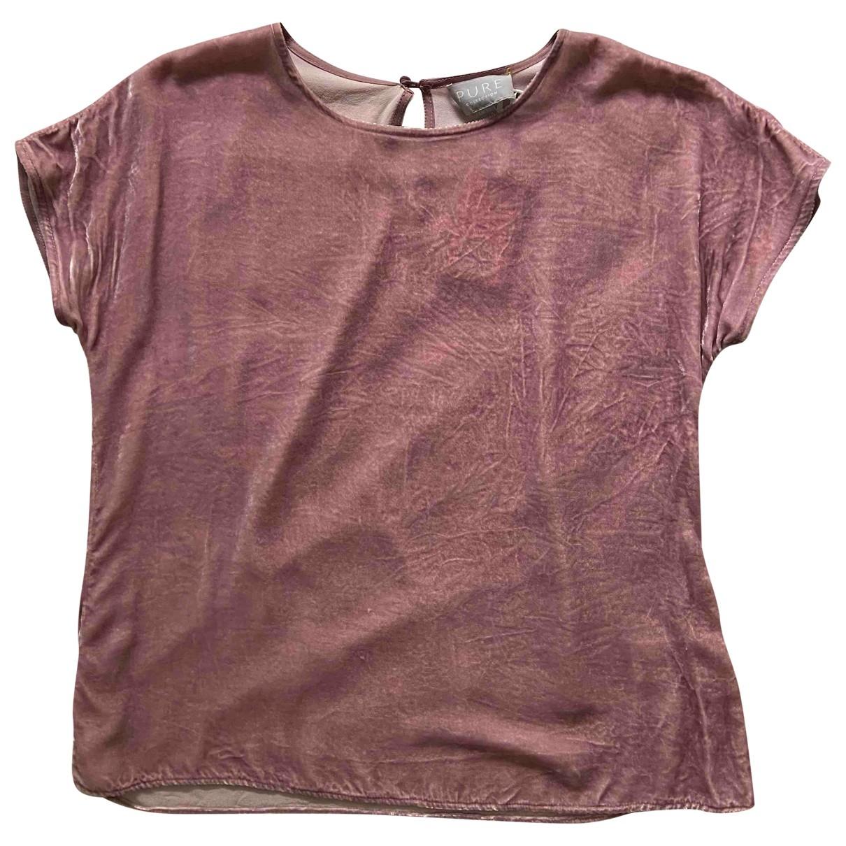 Pure Collection - Top   pour femme en velours - rose