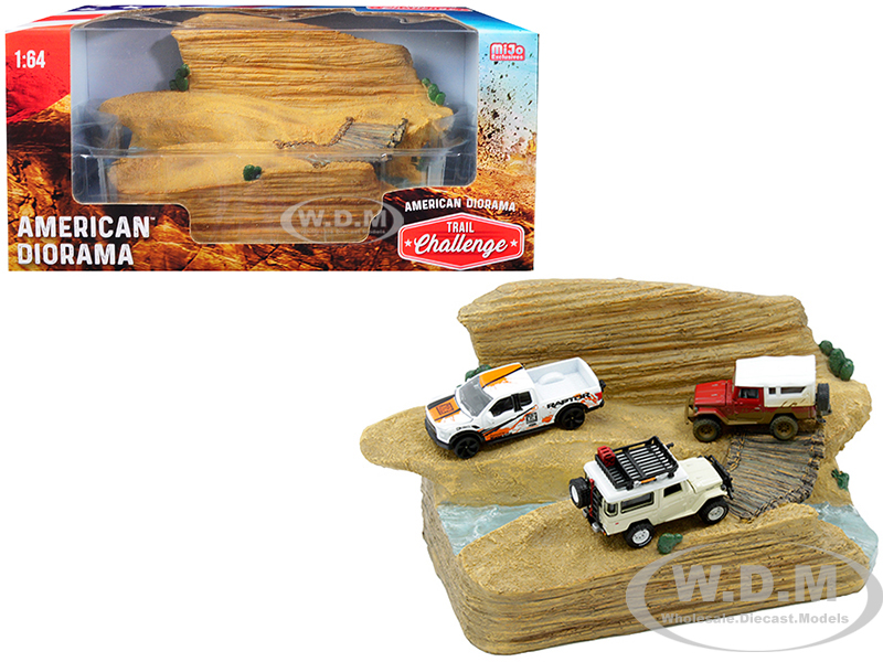 Trail Challenge Resin Diorama for 1/64 Scale Models by American Diorama