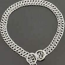 1 pieza collar de perro con cadena