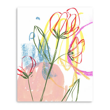 Tulip Formation I Giclee Canvas Art, One Size , Pink