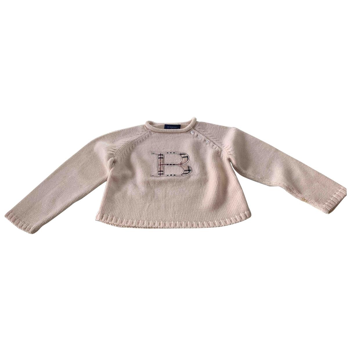 Burberry \N Pullover, StrickJacke in  Beige Wolle
