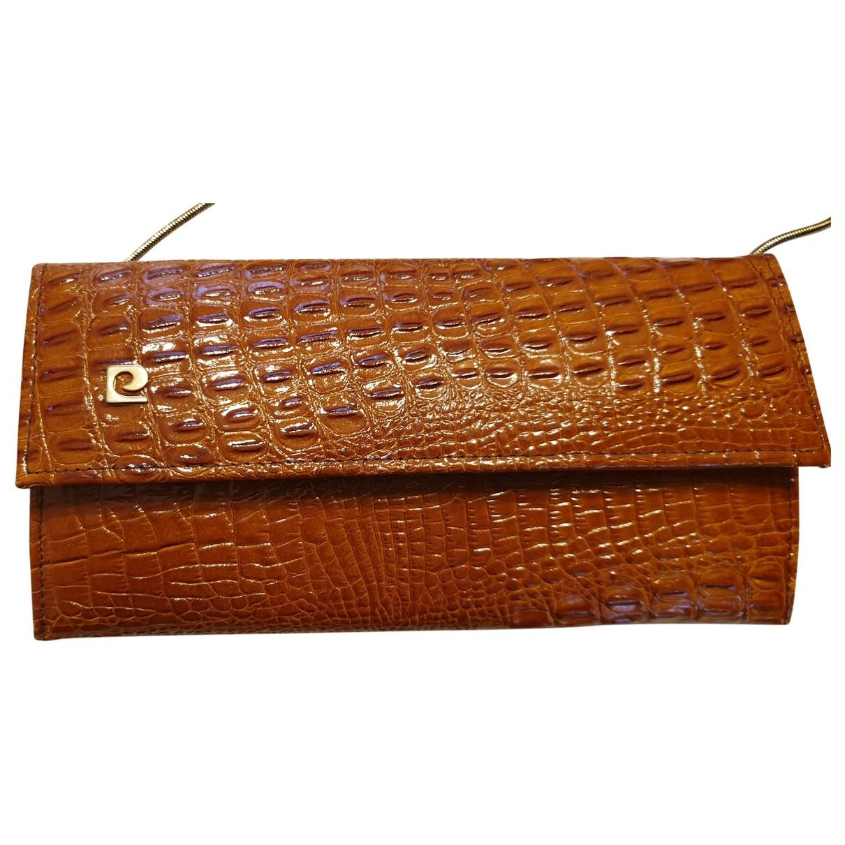 Pierre Cardin - Pochette   pour femme en cuir exotique - marron