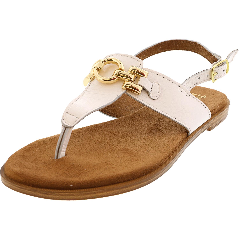 Bella Vita Women's Lin-Italy Italian Leather White Ankle-High Sandal - 6M