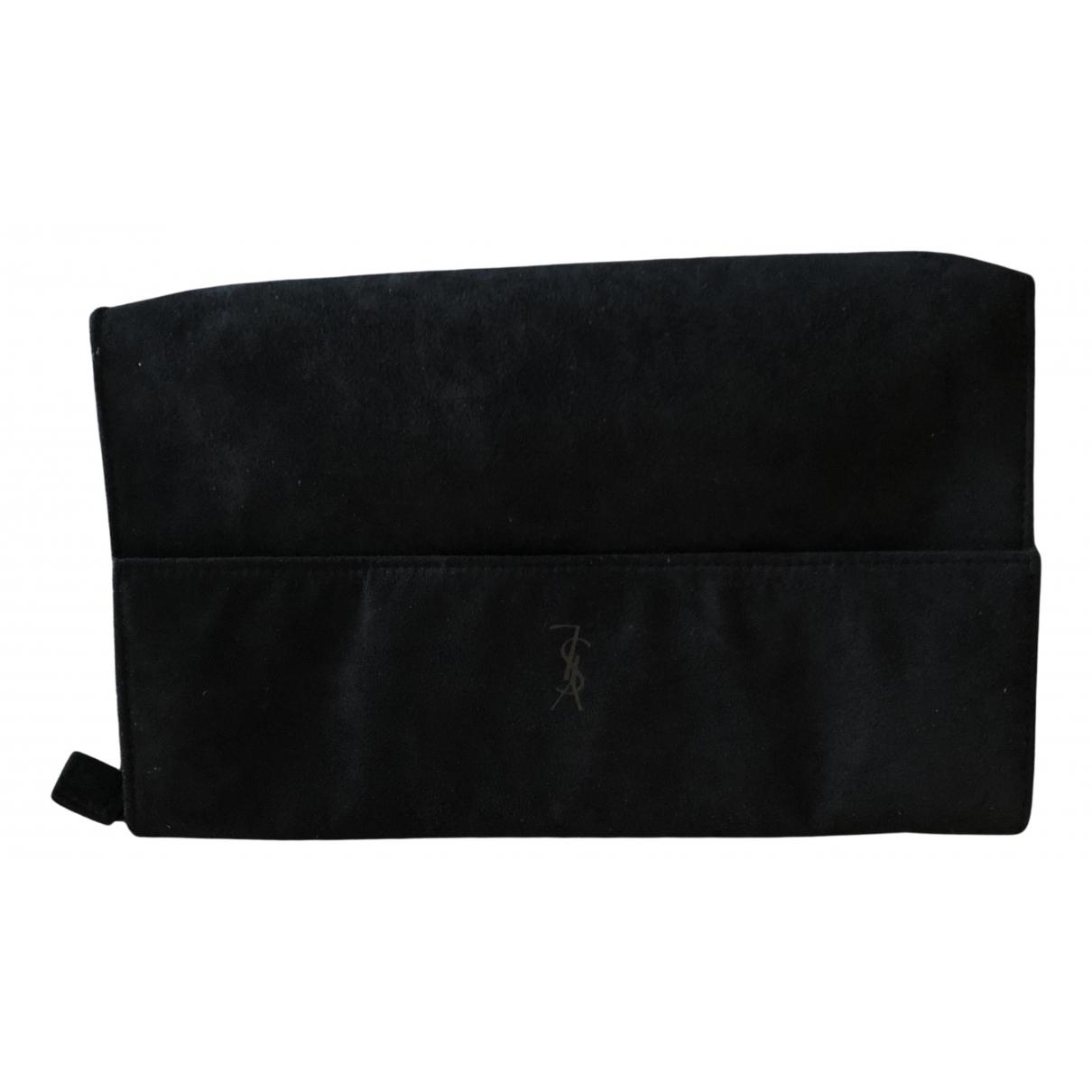 Yves Saint Laurent - Sac de voyage   pour femme en suede - noir