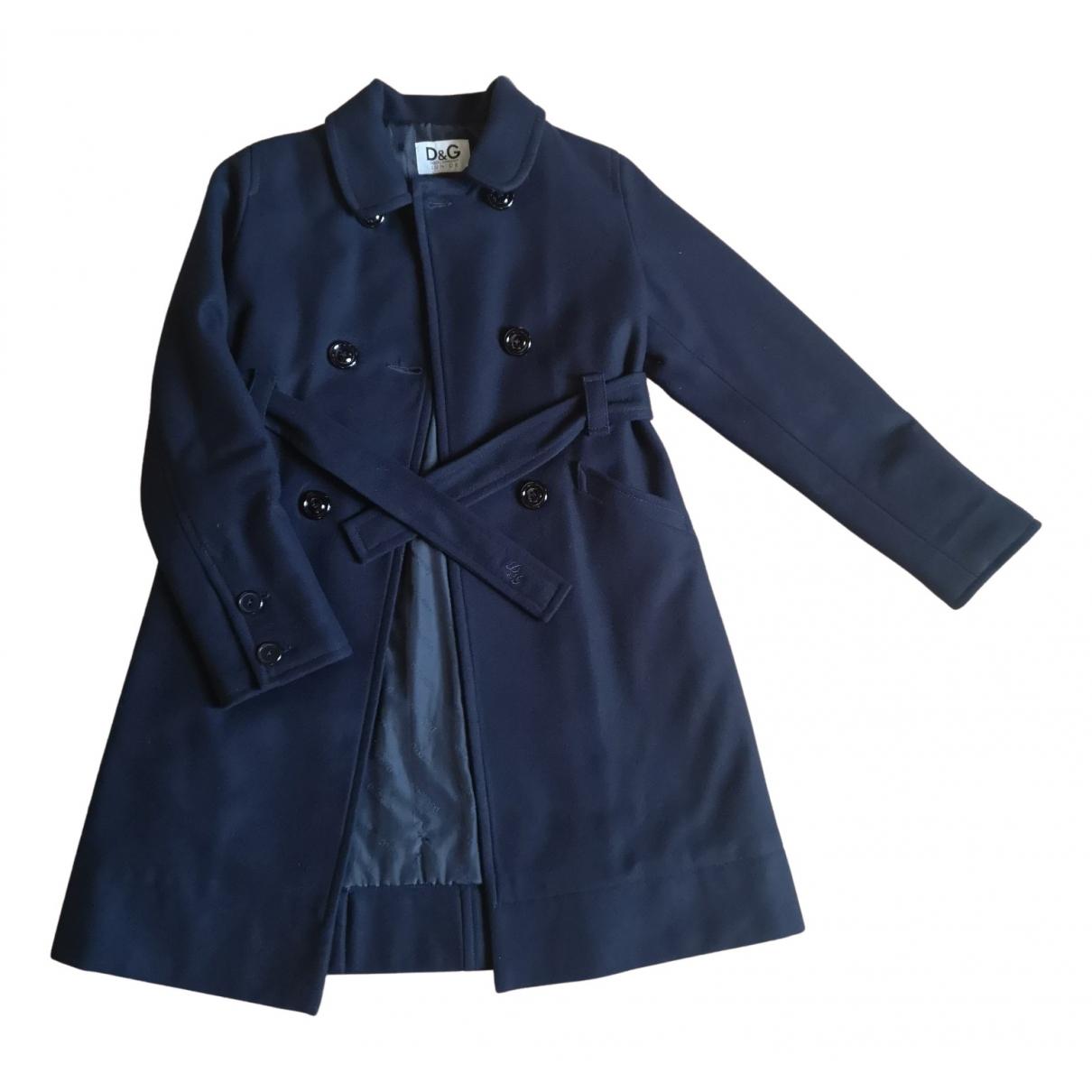 D&g - Blousons.Manteaux   pour enfant en laine - bleu
