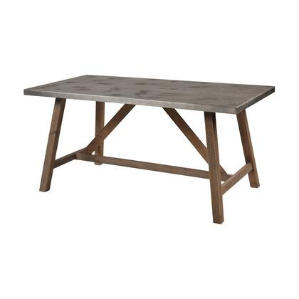 3138-504 Perot Dining Table  In Natural Wood And