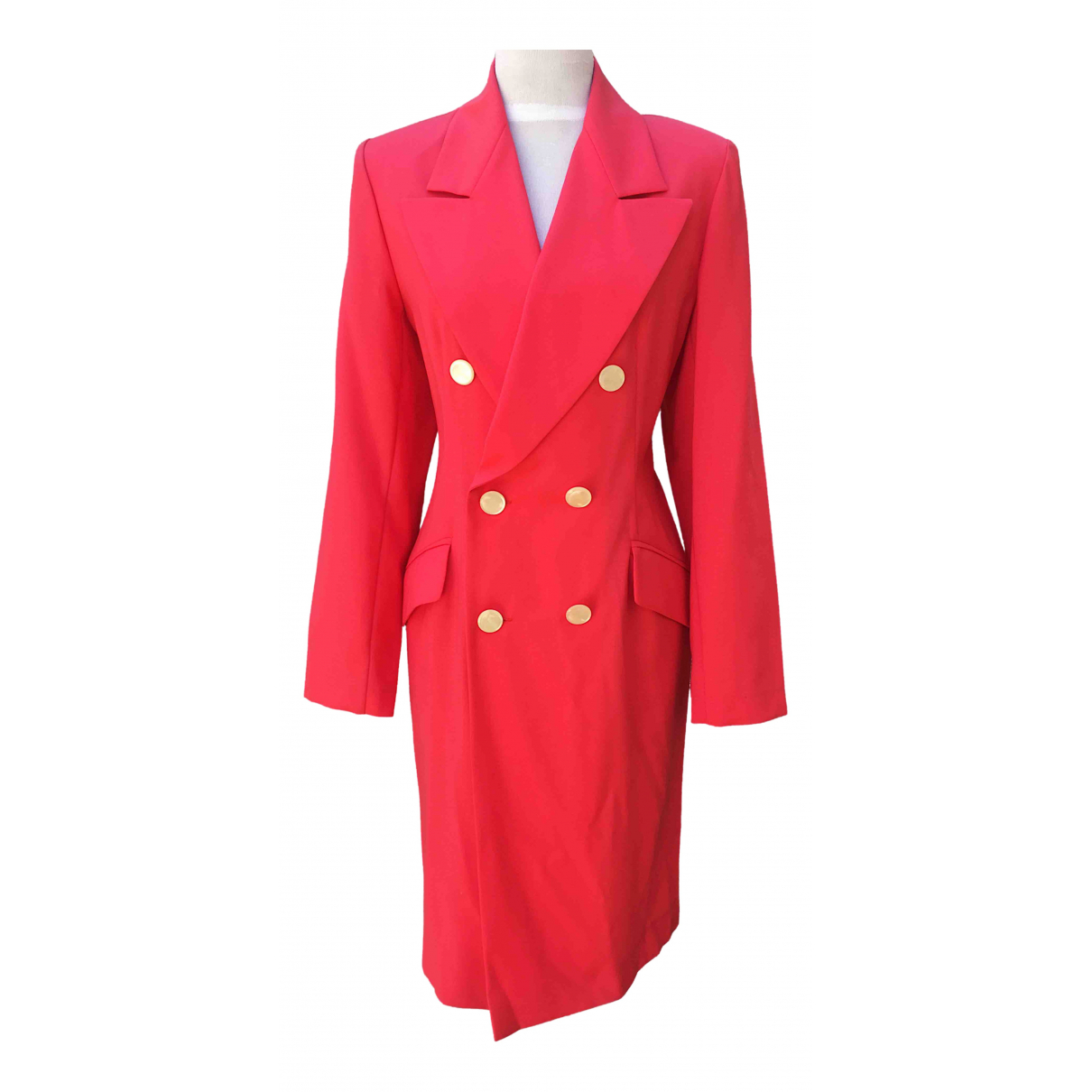 Non Signé / Unsigned \N Pink Wool coat for Women 48 IT