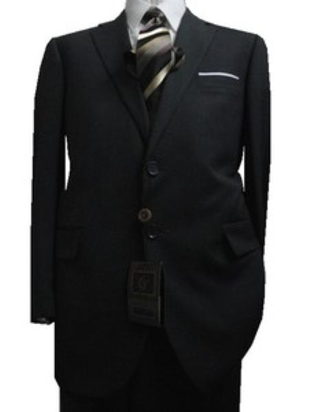 Tailored Slim Cut 2Button Charcoal Light Gray Pinstripes Mens Suit